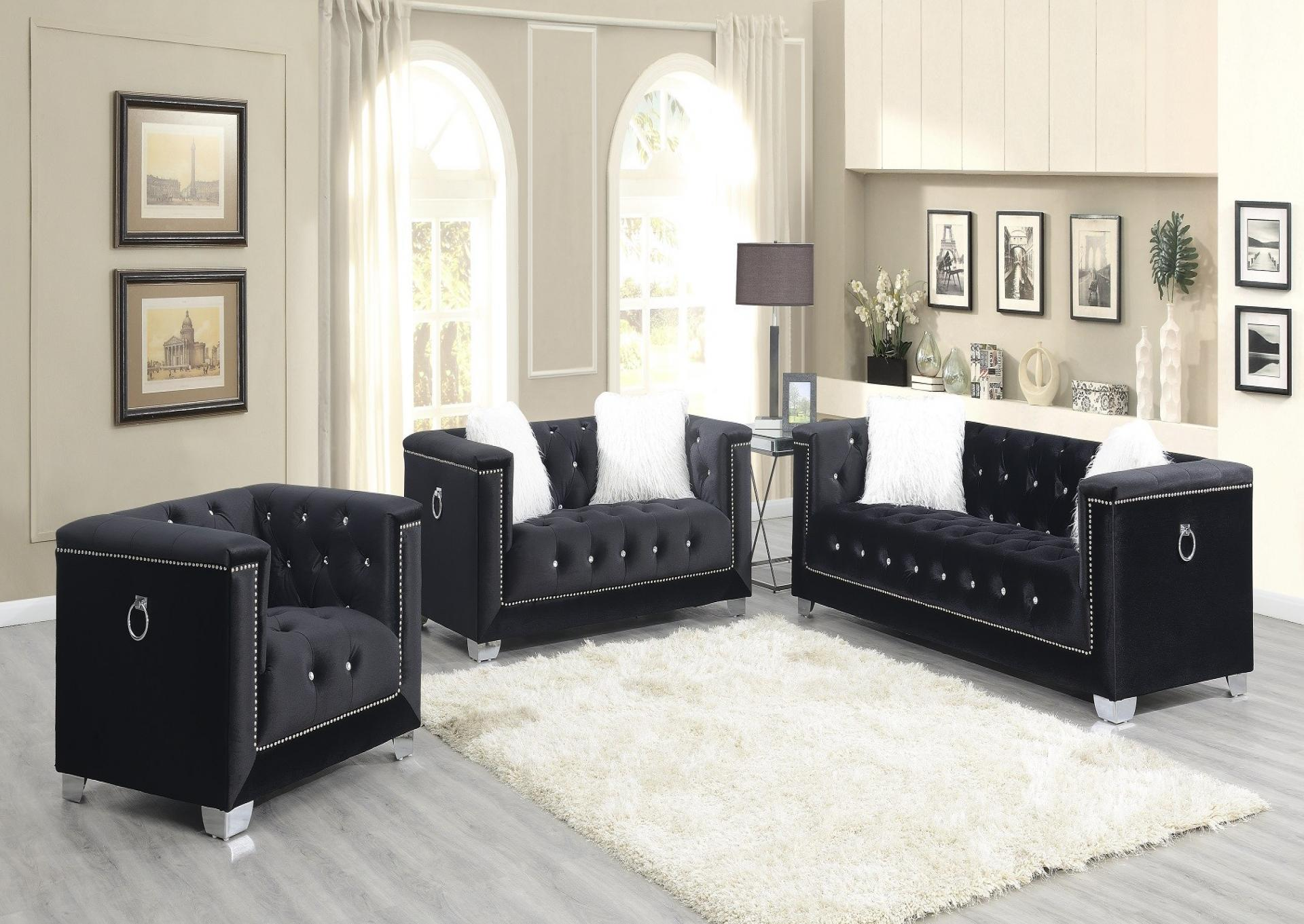 PRINCESS BLACK - SOFA & LOVESEAT,Jerusalem Furniture