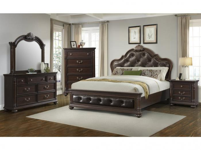 CL600 QUEEN BED, DRESSER, MIRROR,Jerusalem Furniture