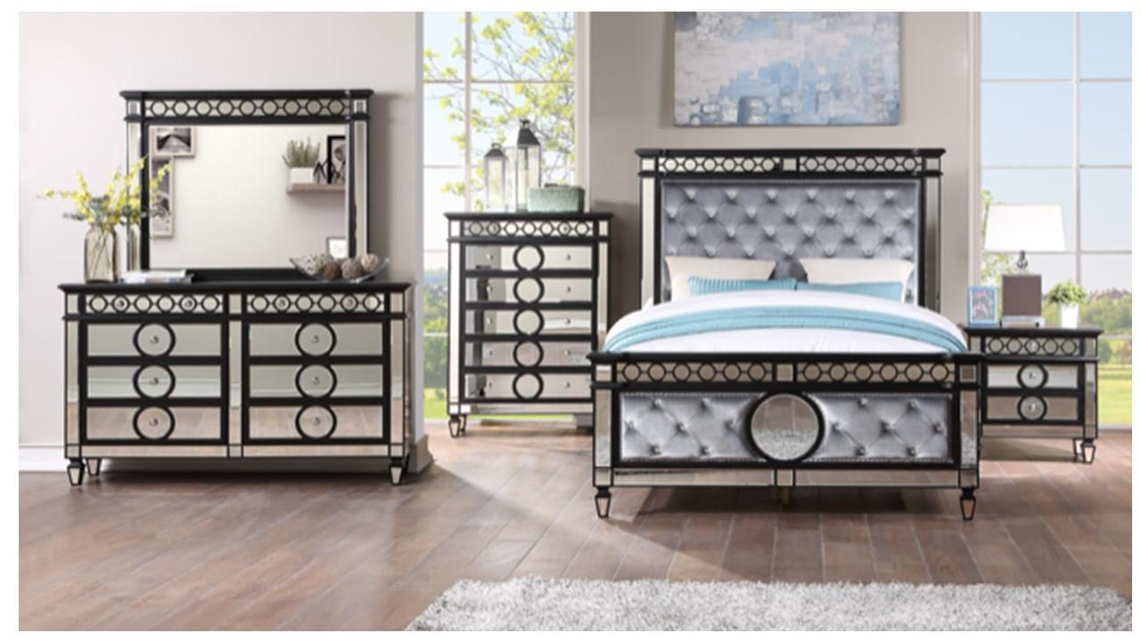 JULIANNA- QUEEN BED, DRESSER, MIRROR, 1 NIGHT STAND,Jerusalem Furniture