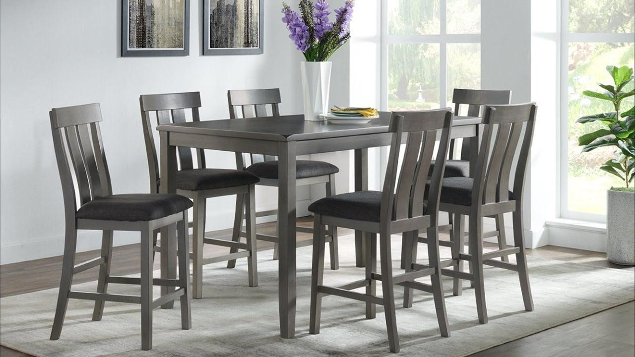 VH686- PUB TABLE + 6 STOOLS,Jerusalem Furniture