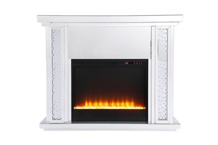MF-9901 MODERN GLASS FIREPLACE BY ELEGANT DECOR,Jerusalem Furniture