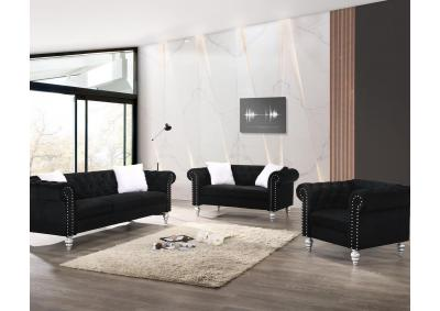 Image for 2070 DIVA BLACK- SOFA & LOVESEAT