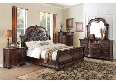Image for B1757- KING BED, DRESSER, MIRROR, 1 NIGHT STAND