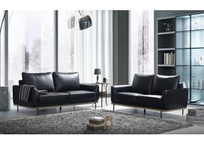 Image for U858-BLACK SOFA & LOVESEAT