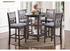 Image for 1701 GRY- PUB TABLE & 4 STOOLS
