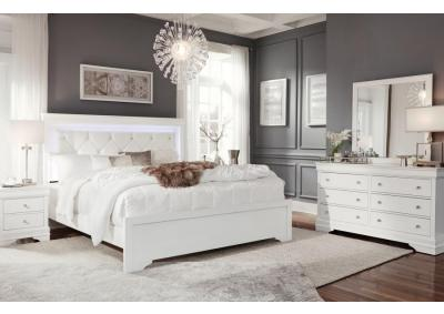 Image for POMPEI WHITE- QUEEN BED, DRESSER, MIRROR, CHEST, 1 NIGHT STAND