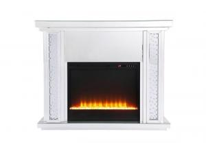 MF-9901 MODERN GLASS FIREPLACE BY ELEGANT DECOR