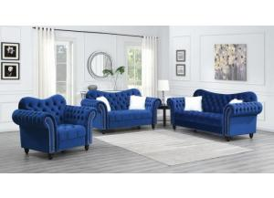 Image for 9123- NAVY BLUE SOFA & LOVESEAT