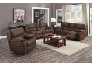 Image for Ramsey Rodeo Brown Reclining Sofa, Loveseat, & Glider Recliner