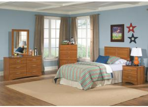 Image for Tanner Collection Oak Finsh 5 Drawer Chest