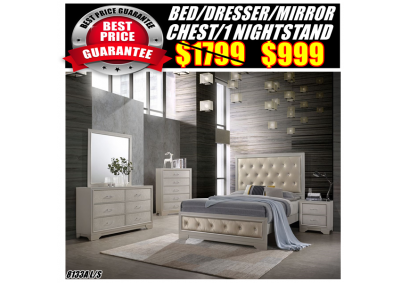 Image for 8133A  QUEEN BED,DRESSER,MIRROR,CHEST,1N/S