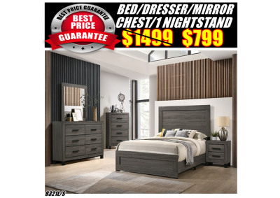 Image for 8321QUEEN BED/DRESSER/MIRROR/CHEST/1N/S
