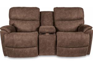 Image for La-Z-Boy Trouper Reclining Console Loveseat with iClean Fabric 490724 E153775