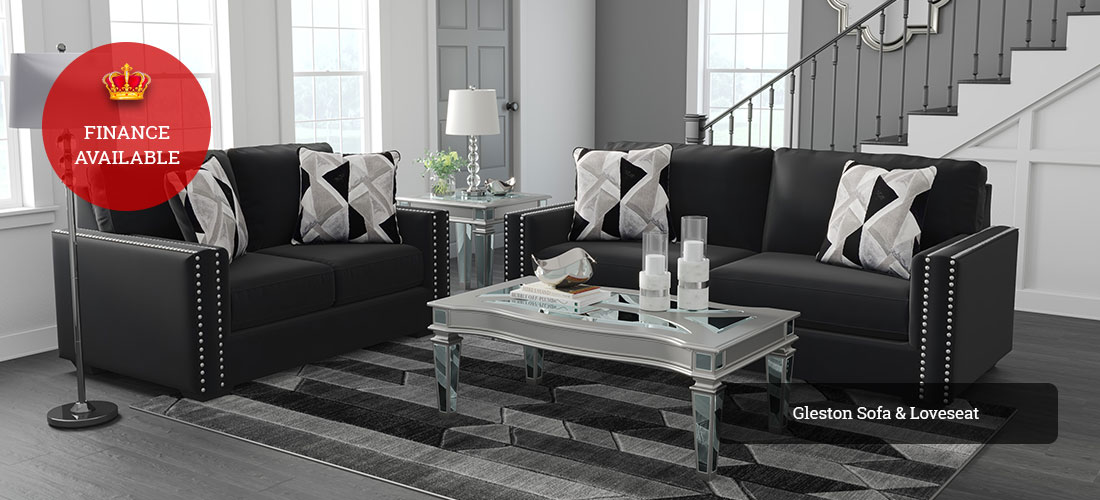 Gleston Sofa and Loveseat