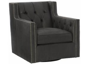 Image for CANDACE LEATHER SWIVEL CHAIR 7272SLO