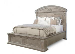 Image for Arch Salvage - Queen Chambers Panel Bed - Parch