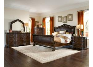 Image for Valencia Queen Bed, Dresser, Mirror, Nightstand and Chest Set
