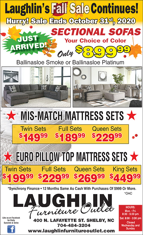 Fall Sale Continues - View Full Ad