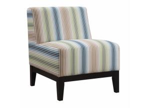 Image for Multi-Color Striped Accent Chair