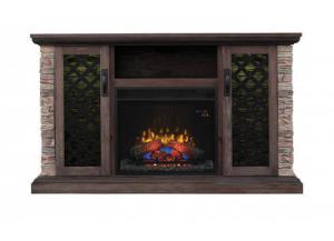 Image for Capitan Media Mantel with Insert - Brushed Homestead Fireplace