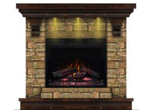Image for Stone Mantel with Aged Coffee Mantel Top/Base Fireplace