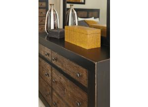 Image for Sand-through Black/ Embossed Oak Dresser