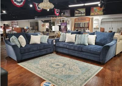 Image for Blue Sofa & Loveseat