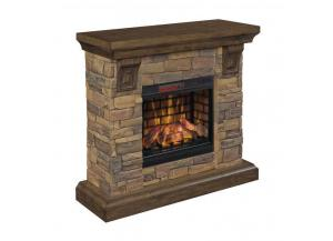 Image for Aged Coffee/Stone Mantel Fireplace