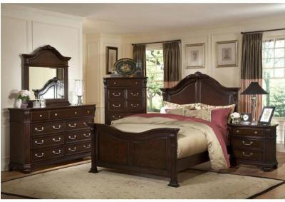Image for Emilie Dark Brown Queen Bedroom Set W/ Nightstand, Chest, Dresser & Mirror