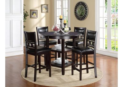 Image for Gia Ebony Counter Height Dining Set