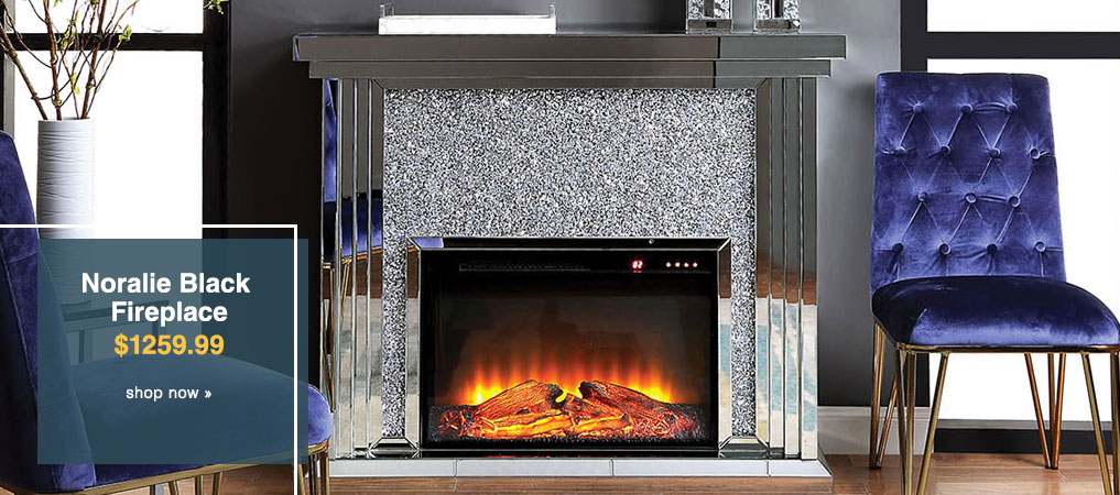 Noralie Black Fireplace