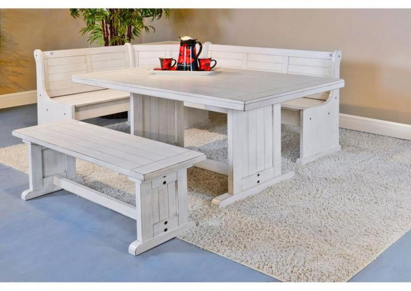 Bayside Breakfast Nook with Side Bench,Instore