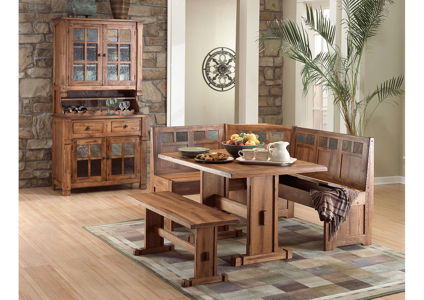 Sedona Breakfast Nook with Side Bench,Instore