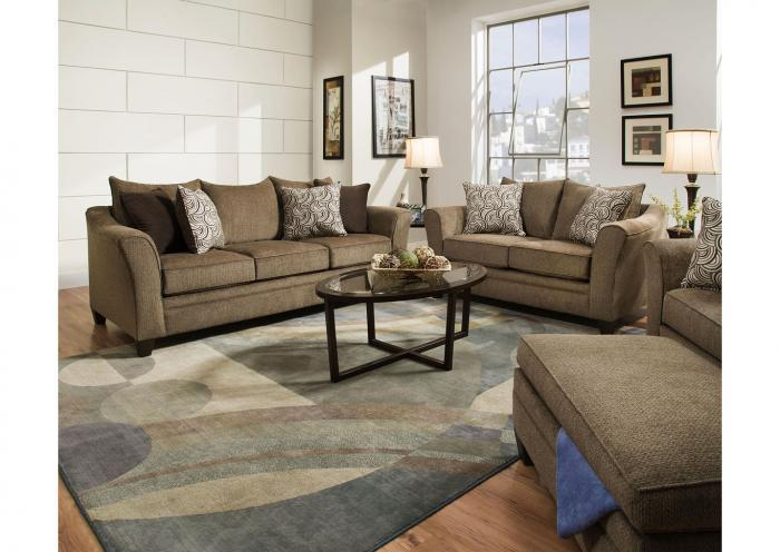 Reagan Sofa and Love Seat - Albany Truffle,Instore