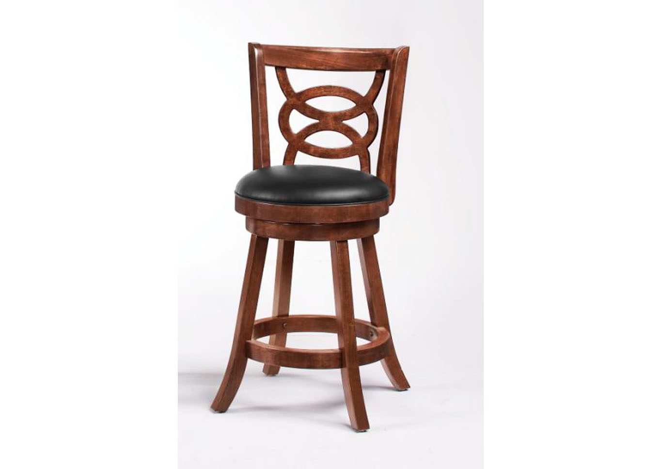 Swivel Counter Stool - 24 Inch Cappuccino,Instore