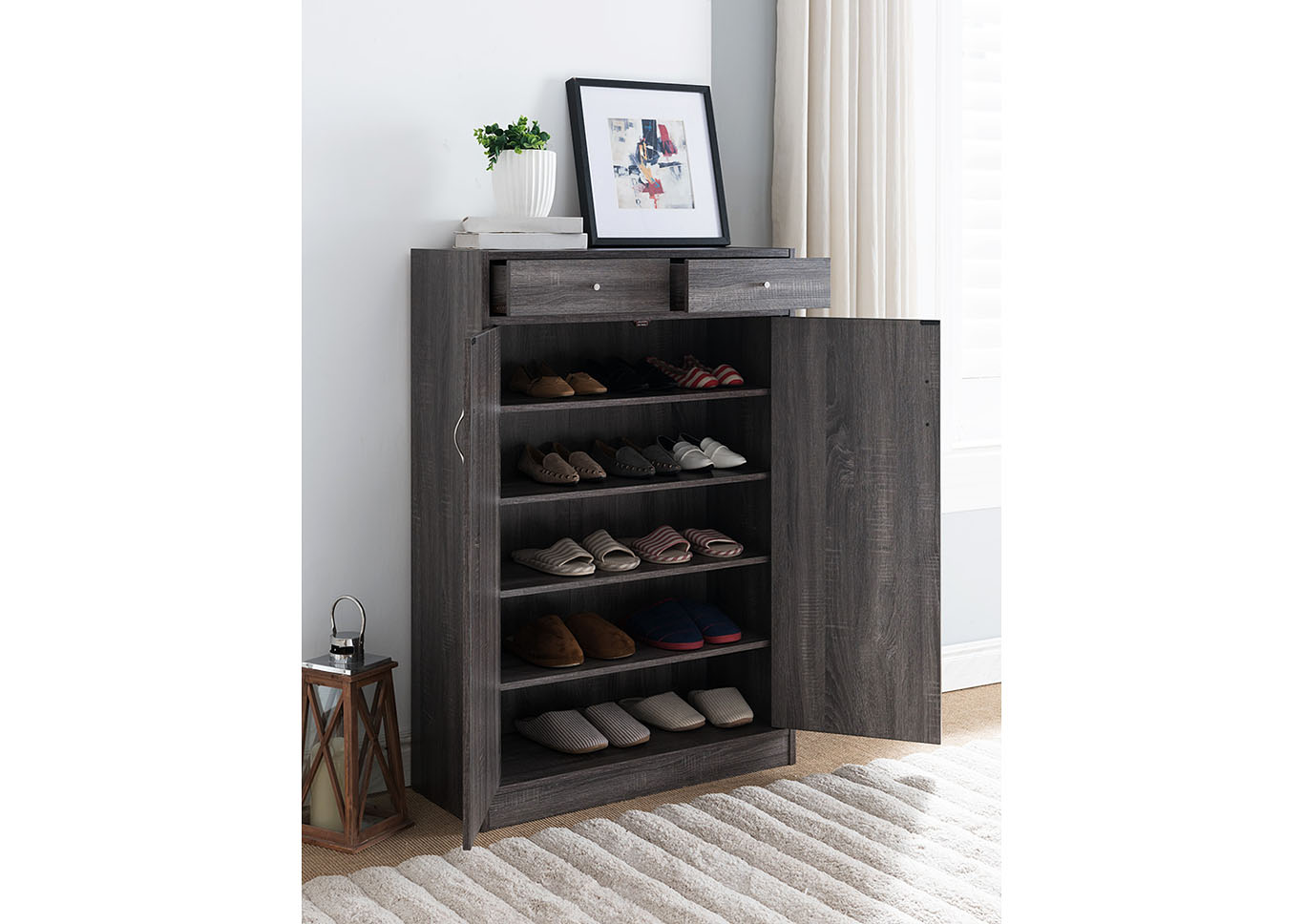 Shoe Cabinet and Storage - Gray,Instore