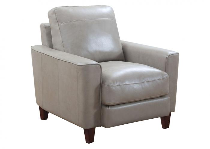 Chino Top Grain Leather Chair - Beige,Instore