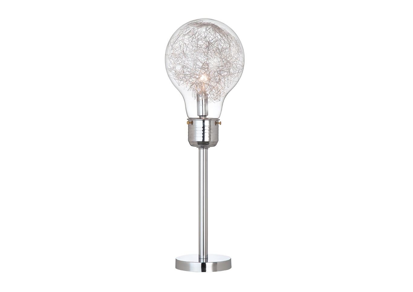 "26""H TABLE LAMP CLEAR,Instore"