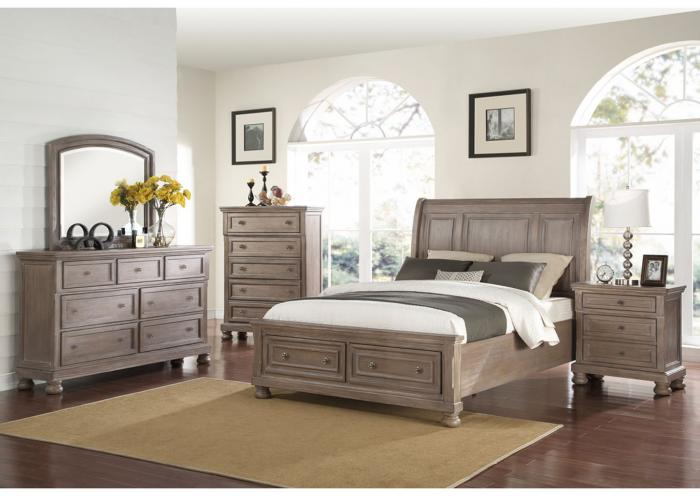 Allison 4pc California King Bedroom Set,Instore