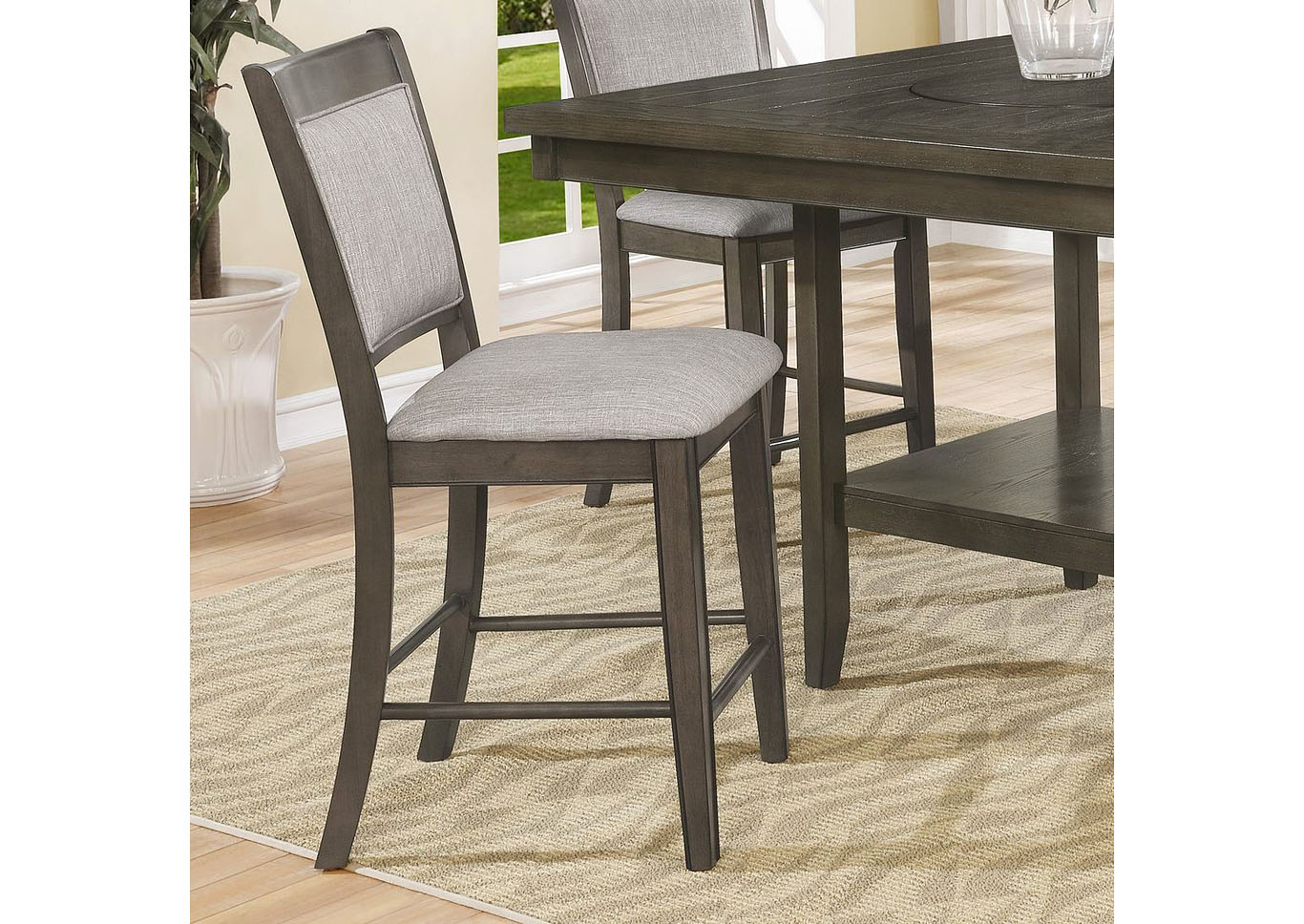 Melrose Gray Counter Height Set - Table with 4 Stools,Instore