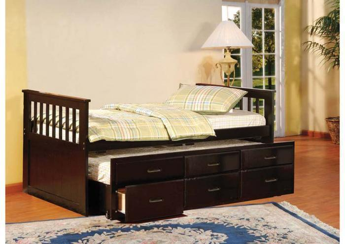Benny Captain's Trundle Twin Bed,Instore