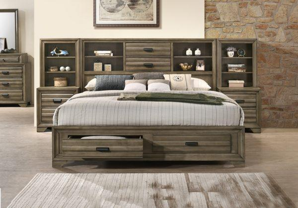Rodney Storage Bed with 2 Piers and 2 Nightstands Full Size