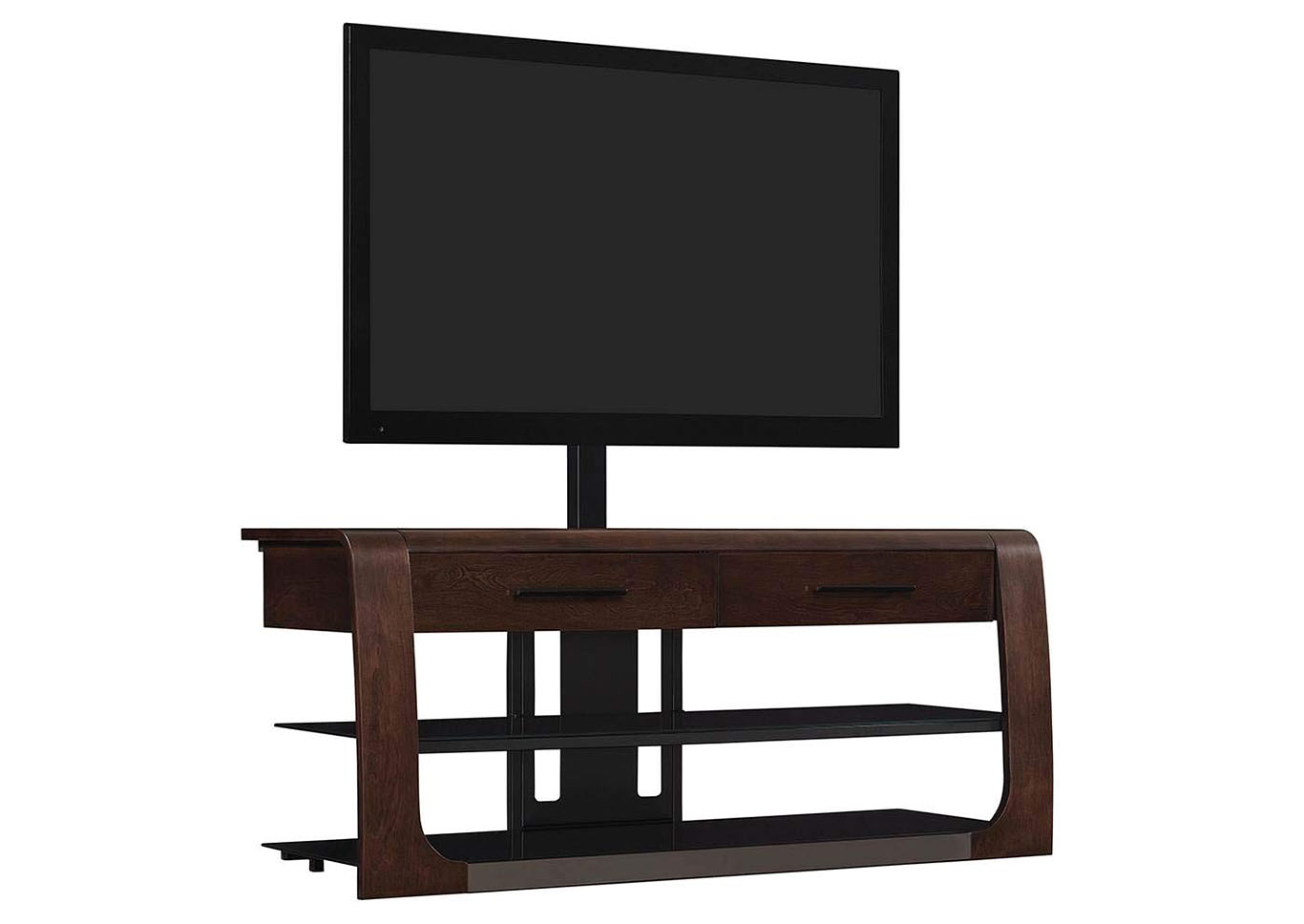 "Triple Play 50"" 3 Shelf TV Stand with Flat Panel Mount - Dark Espresso,Instore"