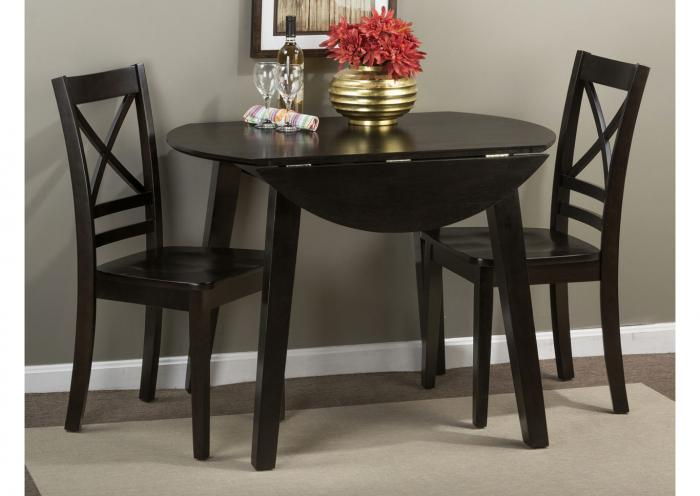 Simply Drop Leaf Table and 2 Chairs - Espresso,Instore