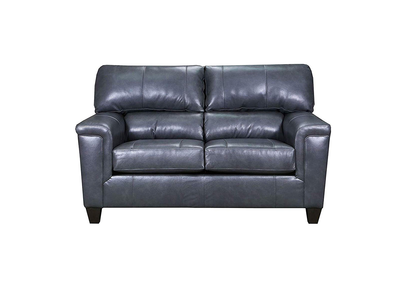 Lane Furniture  Kennedy Top Grain Leather / Mate Love Seat Fog,Instore