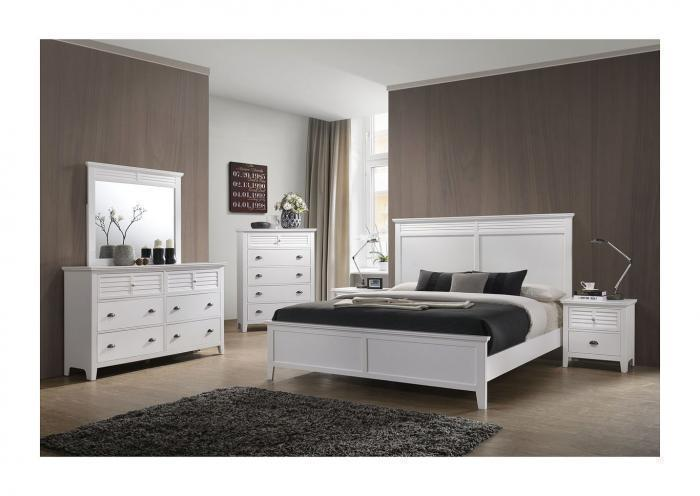 Jazz White Platform Storage Bed - Queen,Instore