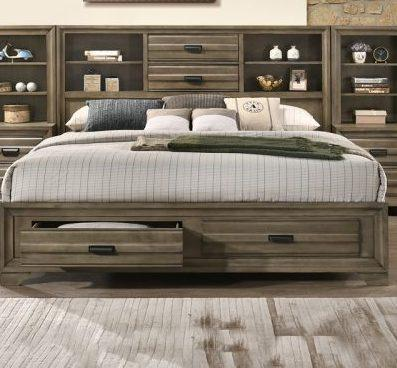 Rodney Storage Bed with 2 Drawers in the Headboard and Footboard