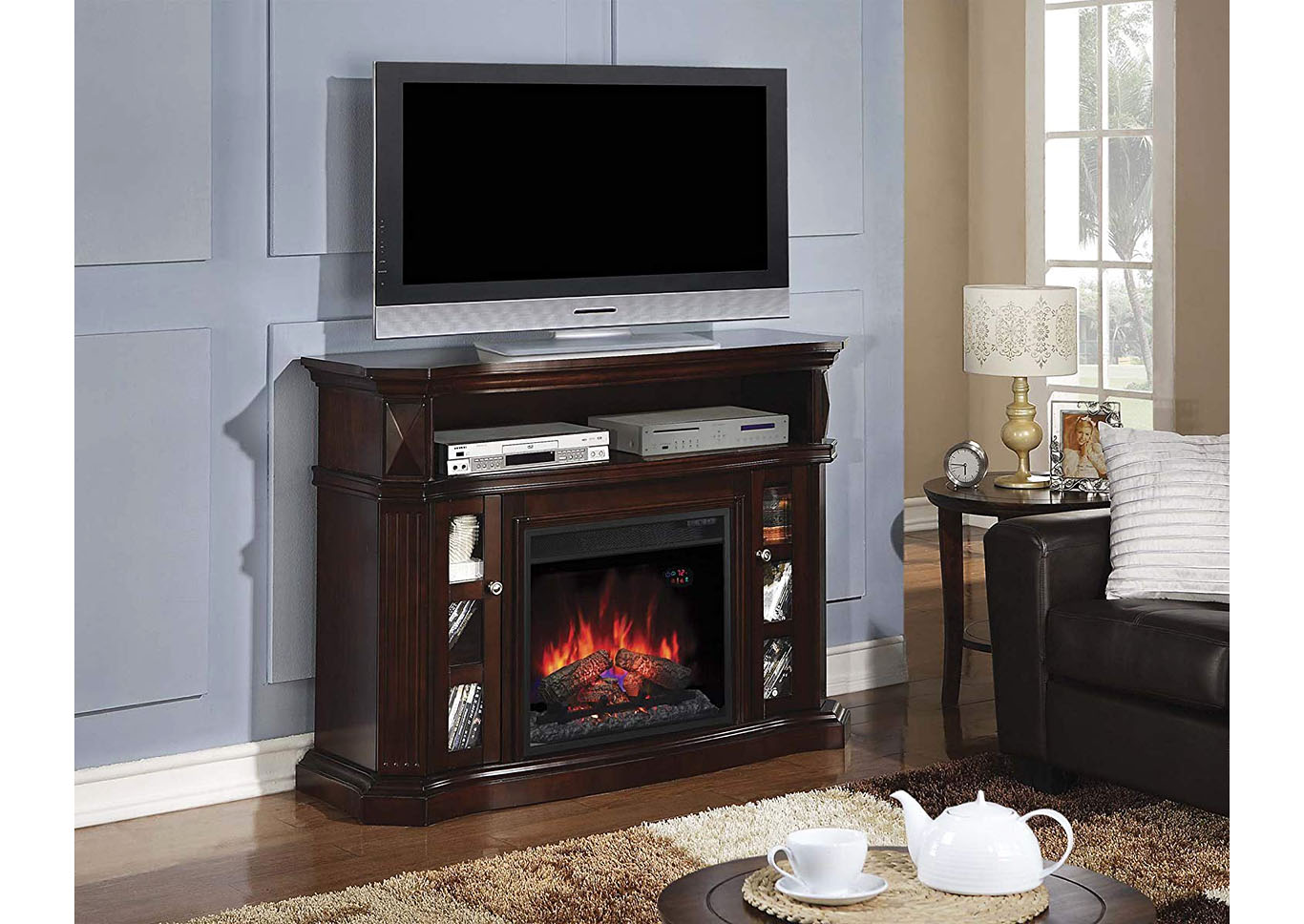 "Classic Flame Bellemeade TV Stand for TVs up to 60"", Espresso,Instore"