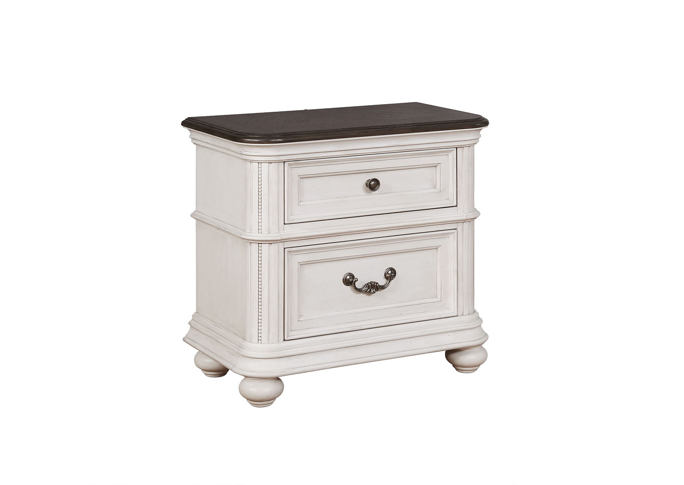 Lanett 2 Drawer Nightstand with USB Charging Station,Instore