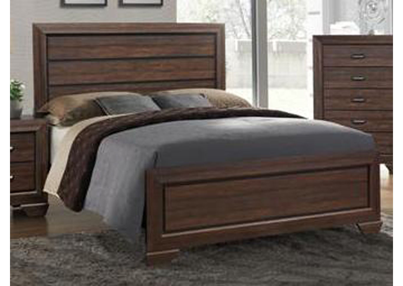 Farrow Full Panel Bed - Brown,Instore